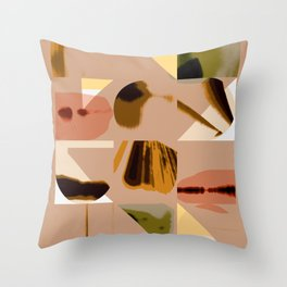 Shapes in Pastel Throw Pillow