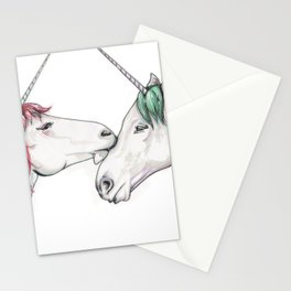 Unicorns in love III Stationery Cards