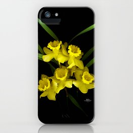 Spring Daffodils Scanography iPhone Case