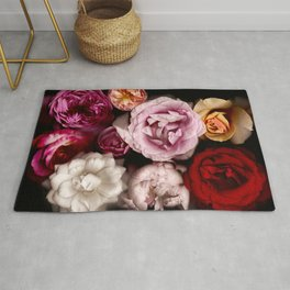 Red, White, Yellow, and Pink Roses Rug