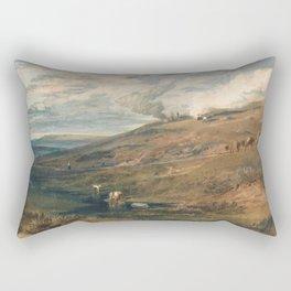 "J.M.W. Turner ""Dartmoor- The Source of the Tamar and the Torridge"" Rectangular Pillow"