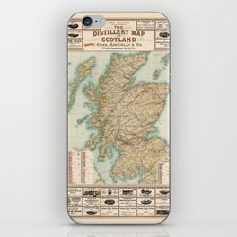 Whisky Map 1902 iPhone Skin
