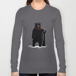 Bear on snowboard Long Sleeve T-shirt