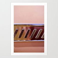 Pink Classic American Car Art Print