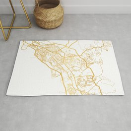 PANAMA CITY STREET MAP ART Rug