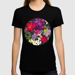 Black Parrot Tulips T-shirt