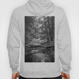Enchanted Forest in black and white Hoody