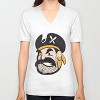 pirates V-neck T-shirts featuring Pirates by John Trivelli