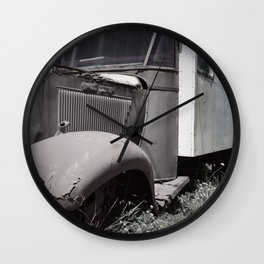 Old Fashioned Ice Cream Truck  Wall Clock
