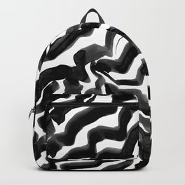 Bold Ink Stripes in Black and White Backpack