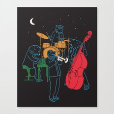 Animals plays Jazz Canvas Print