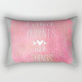 Collect Moments watercolor typography quote Rectangular Pillow