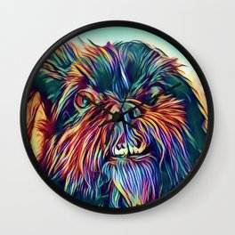 The GRIFFON from our POP YOUR POOCH line Wall Clock