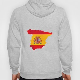 Silhouette Flag Map Of Spain Hoody
