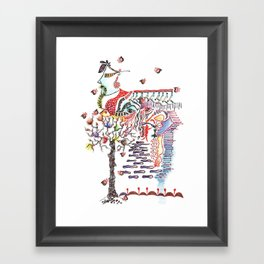 Face in the Crowd Framed Art Print