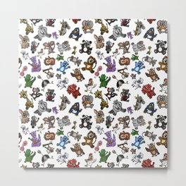 All The Curious Creatures Metal Print
