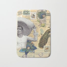 "Collage  Brigitte Bardot - ""All Around My Hat"" Bath Mat"
