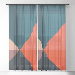 Geometric 1713 Sheer Curtain