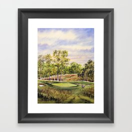 Merion Golf Course 17th Hole Framed Art Print
