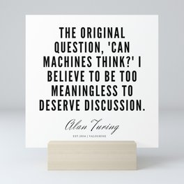 26    | Alan Turing Quotes  | 190716 | Mini Art Print