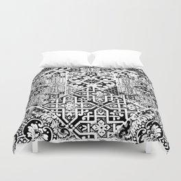 celtic knot black & white Duvet Cover