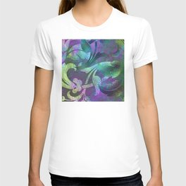 Jeweled Jade & Purple Jungle Floral Designs T-shirt