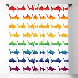 Rainbow Sharks Blackout Curtain