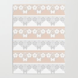 Peach-colored lace . Poster