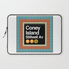 subway coney island sign Laptop Sleeve