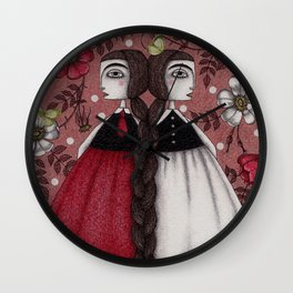 Snow-White and Rose-Red (1) Wall Clock