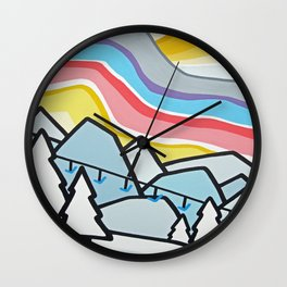 Fresh Tracks Wall Clock