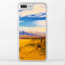 hurricane valley digital oil painting akvop std Clear iPhone Case
