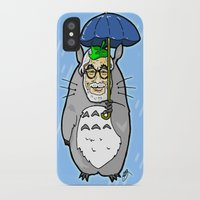 hayao miyazaki iPhone & iPod Cases featuring Hayao Miyazaki IS... Tortoro.  Is this his goodbye? by beetoons