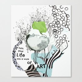 Life Into Art: by Deb Haugen (#HeyCreateDaily) Canvas Print