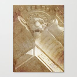 Lion Gargoyle Canvas Print