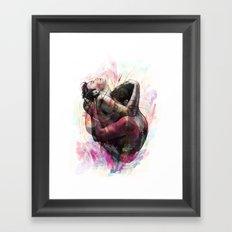 Take A Bite Of My Heart Tonight Framed Art Print