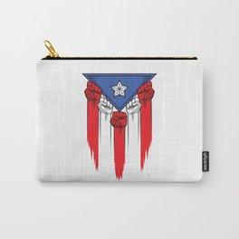 Puerto Rico Flag - Boricua Raised Fists Carry-All Pouch