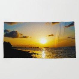 Seashore Serenity at Sunset Beach Towel