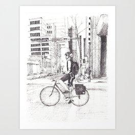 Courier Art Print