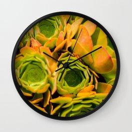 Succulent Overdose Wall Clock