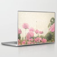 poppies Laptop & iPad Skins featuring POPPIES by Monika Strigel