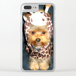 Dog | Happy Giraffe | Yorkie Puppy | Dogs | Puppies | Pets Clear iPhone Case