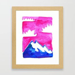 The Only Mountain Among The Flowers Framed Art Print