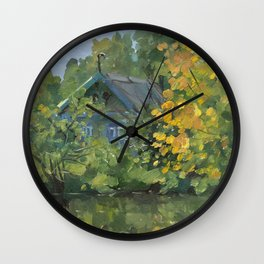 Early September Nature Etude Wall Clock