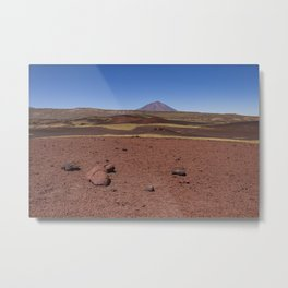 Lava field. Lava mountains of different colors. Metal Print