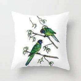 Ringneck Parrots Throw Pillow