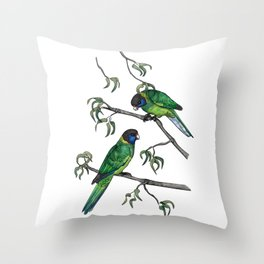 Ringneck Parrots Throw Pillow