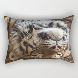 Tiger Portrait Rectangular Pillow