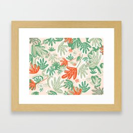 Tropical Abstract Pattern Framed Art Print