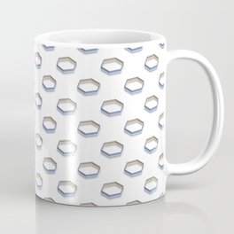 Polygon Shapes with Golden Shade Coffee Mug